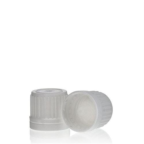Bouchon à vis DIN 18 blanc avec compte gouttes