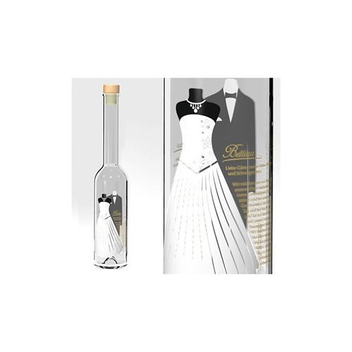 "350ml Bruiloft fles ""Wedding Desscode"""