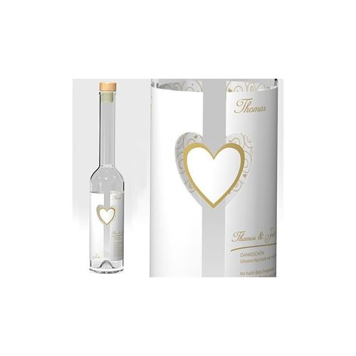 "Bruiloft fles ""Wedding Heart"""
