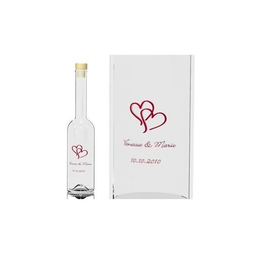 "350ml Bruiloft fles ""Wedding One Colour"""