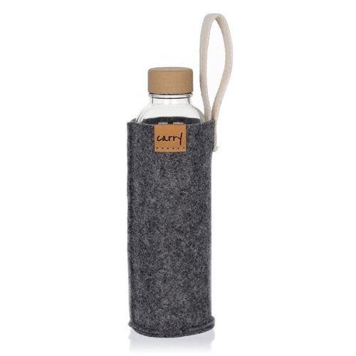 CARRY Sleeve  grau für 700ml Glastrinkflasche