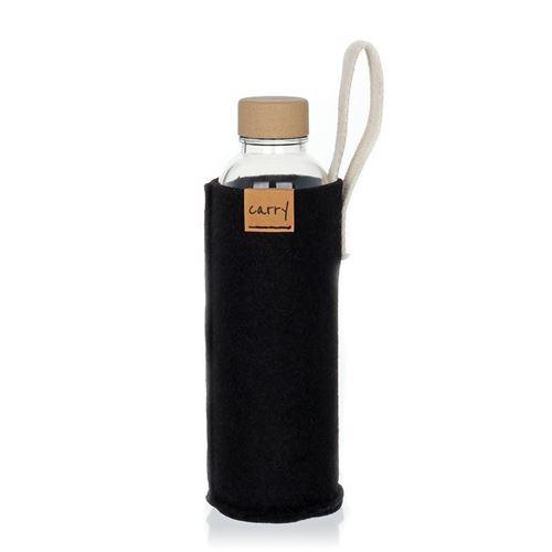 CARRY Sleeve schwarz für 700ml Glastrinkflasche