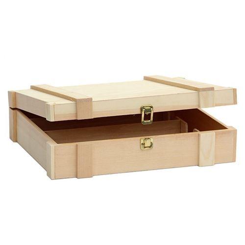 caisse en bois clair pour 3 bouteilles bouteilles et. Black Bedroom Furniture Sets. Home Design Ideas