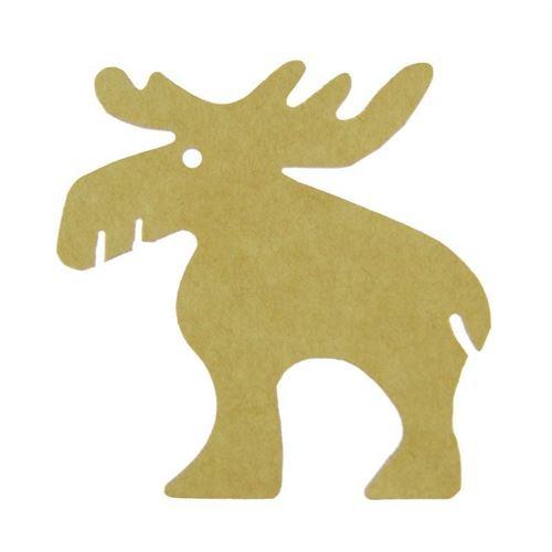 """Carte pendentif """"renne"""" écru"""