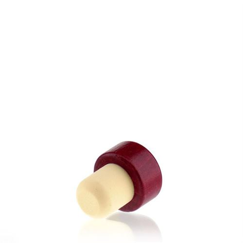 Corcho con asa de madera TIPO M (19mm) rojo bordeaux