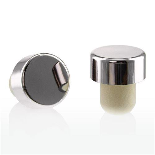 Tappo in sughero con piano argento/lucido metallizzato TIPO M