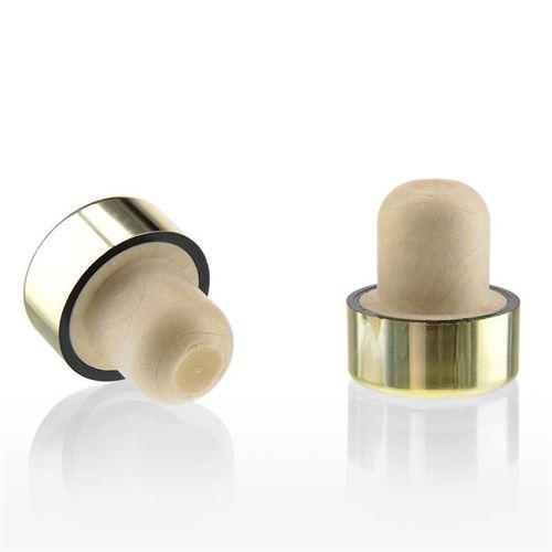 Tappo in sughero con piano oro/lucido metallizzato TIPO M
