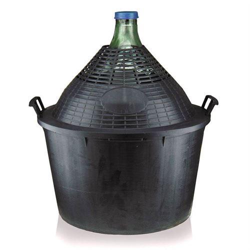 Damigiana da 34 litri con cesto in plastica