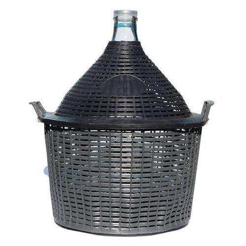 Ballonflasche hell 34 Liter mit Plastikkorb