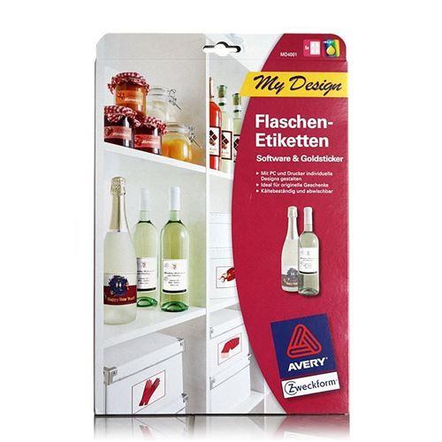 "Etichette per bottiglie "" Zweckform"" 20 pezzi"