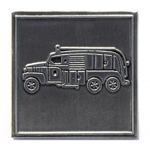 "Etiqueta metálica ""Camión de bomberos"""