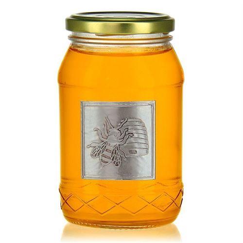 "Etiqueta metálica ""miel"""