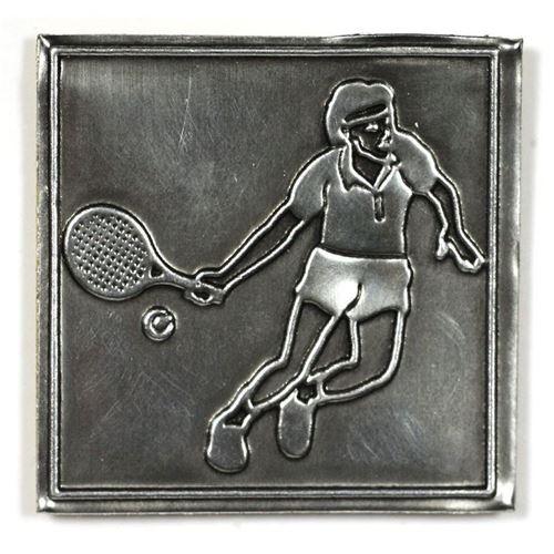 """Etiqueta metálica """"Tenis"""""""