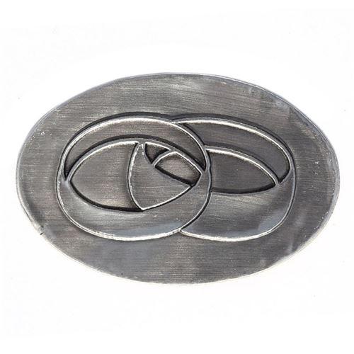 """Étiquette en métal """"anneaux de mariage"""""""