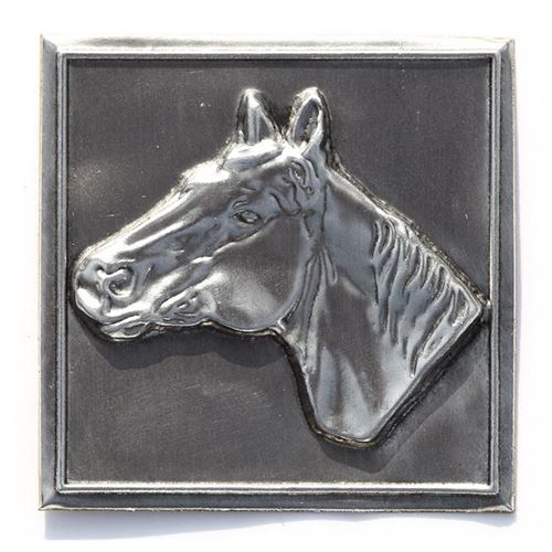 """Étiquette en métal """"cheval"""""""