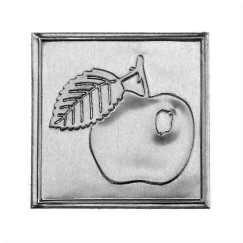 """Étiquette en métal """"pomme"""""""