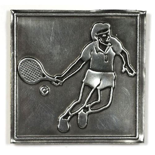 """Étiquette en métal """"tennis"""""""