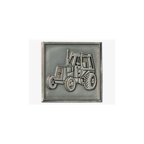 """Étiquette en métal """"tracteur"""""""