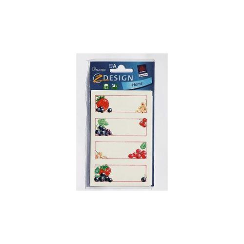 Étiquettes de ménage fraises et groseilles