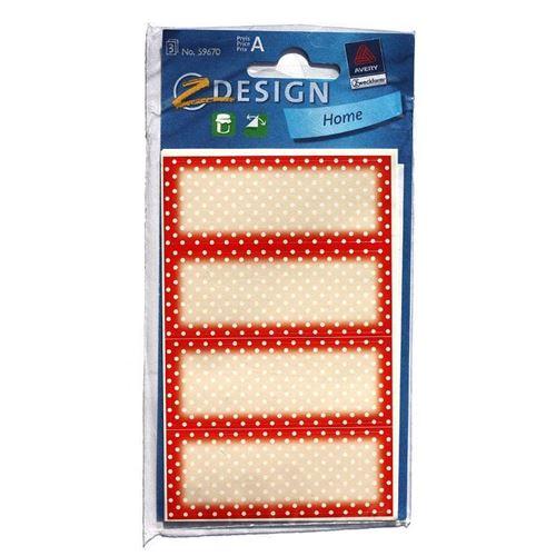 Étiquettes de ménage rouge
