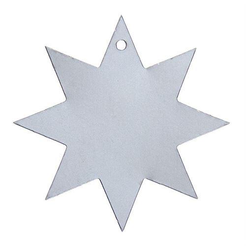 Hængekort formet som en stjerne, sølv