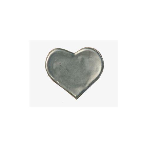 Hjerteformet metaletiket