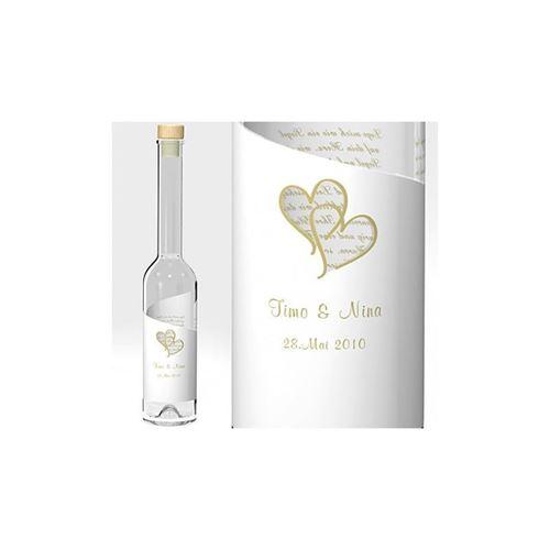 """Hochzeitsflasche """"Wedding Golden Hearts"""""""