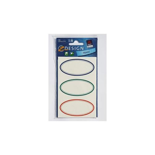Huishouden etiketten oval