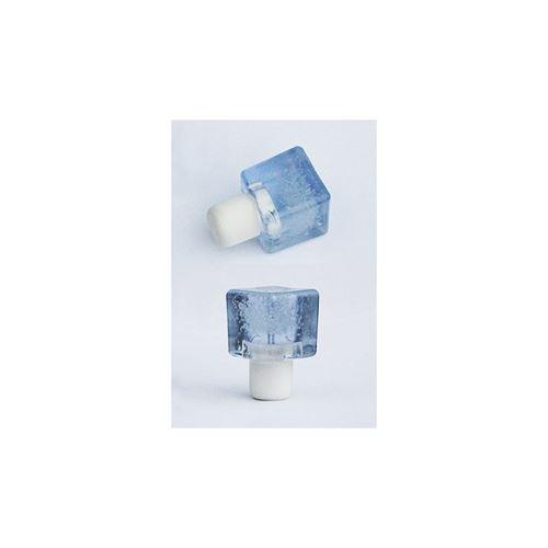 Kunststofkurk ijsblokje TYP M (doorzichtig blauw)