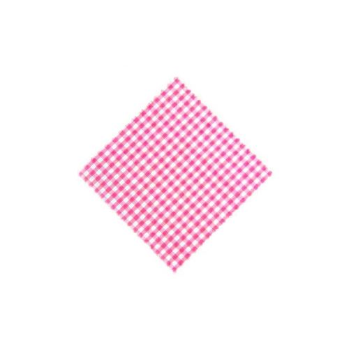 Lille stofdug, lyserødternet, 15x15cm, inkl. Tekstilsløjfe