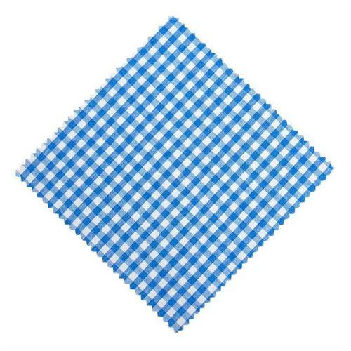 Lille stofdug, petrol-ternet, 15x15cm, inkl. Tekstilsløjfe