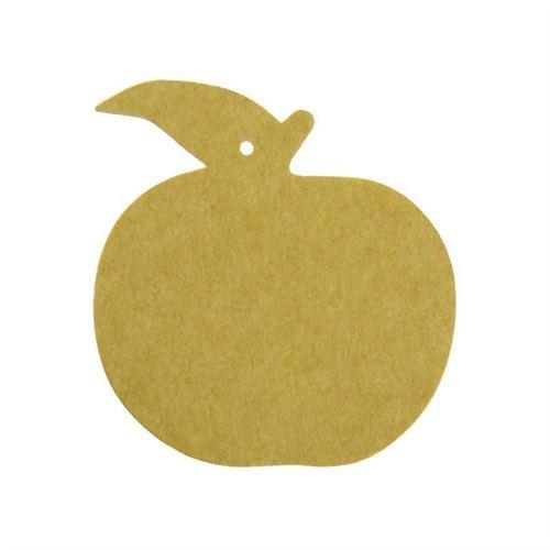"""Etichetta a ciondolo in carta """"mela"""""""