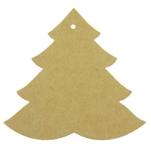 """Medaglia in carta """"Albero di Natale"""" color natura"""