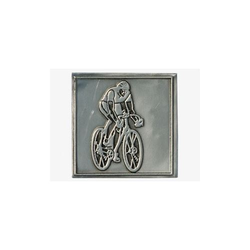 Metal label cyclist