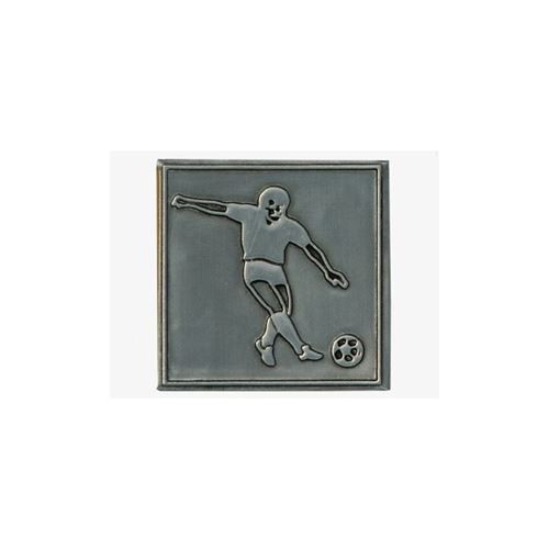 Metal label football