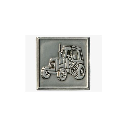 Metal label tractor