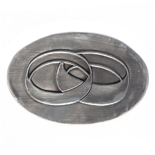 Metal label wedding rings