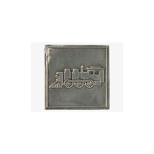 Metalen etiket Locomotief