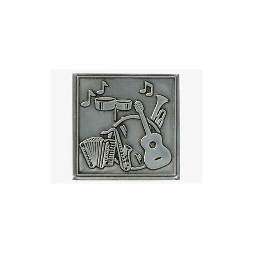 Metalen etiket Muziek