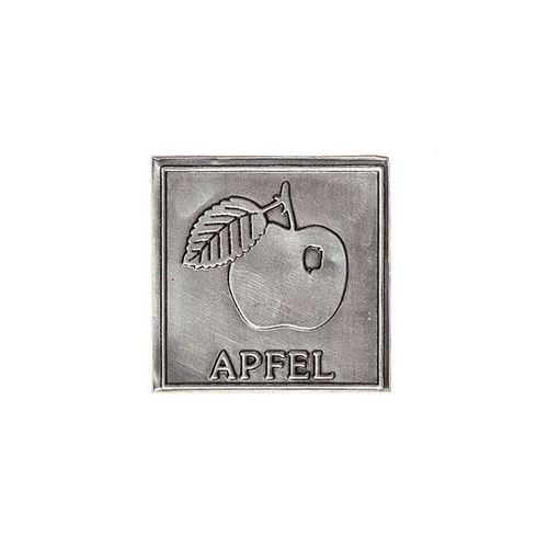 "Metalletikett ""Apfel"""