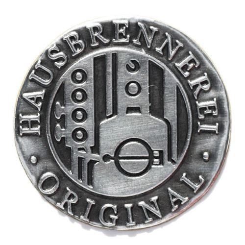 "Metalletikett ""Hausbrennerei - Original"""