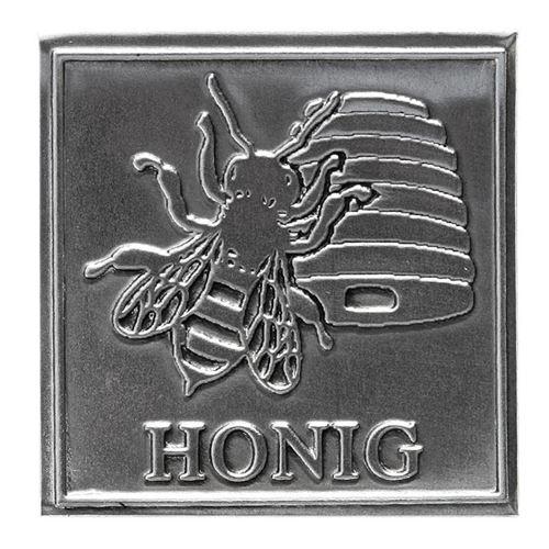 """Metalletikett """"Honig"""""""
