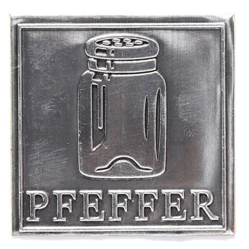 "Metalletikett ""Pfeffer"""