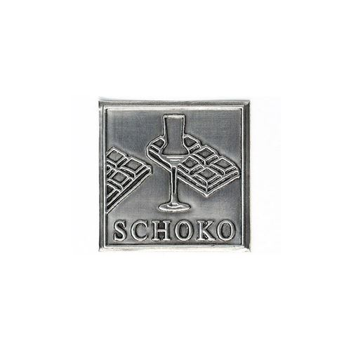 "Metalletikett ""Schoko"""