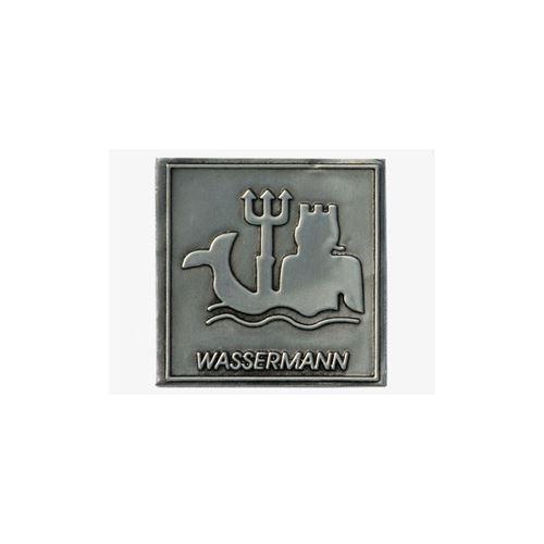 """Metalletikett """"Sternzeichen Wassermann"""""""
