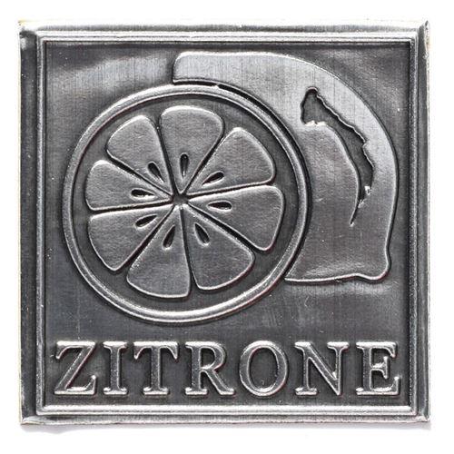 "Metalletikett ""Zitrone"""