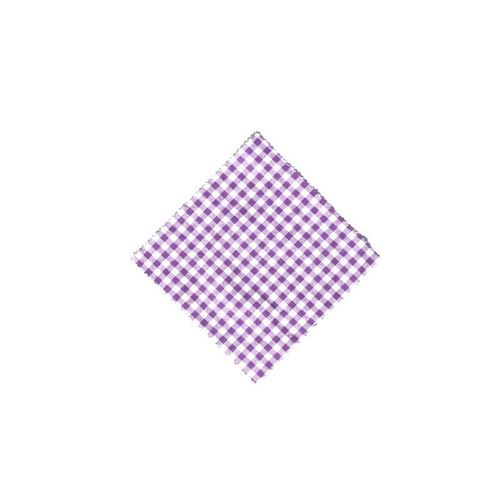 Napperon lilas-carreaux 12x12cm incl. noeud textile