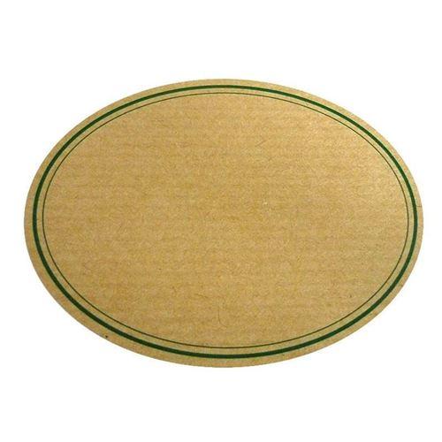 "Naturetikett ""oval"" - grüner Rand"