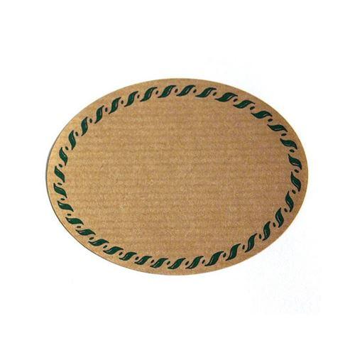 """Naturetikett """"oval"""" mit grünem Rand - klein"""