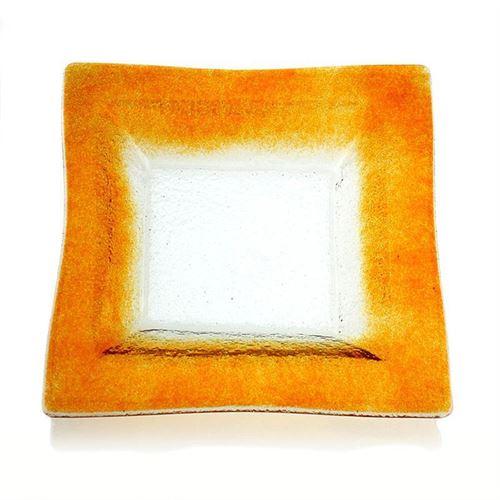 "Rechteckige Glasschale ""Quadrato arancio"""